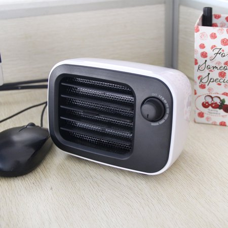 PTC Ceramic Mini Portable Constant Temperature Home Office Bedroom Desktop Energy-Saving Fan with Overheat Protection - image 1 of 7
