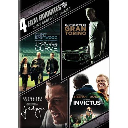 4 Film Favorites  Clint Eastwood Drama  Trouble With The Curve   Gran Torino   J  Edgar   Invictus