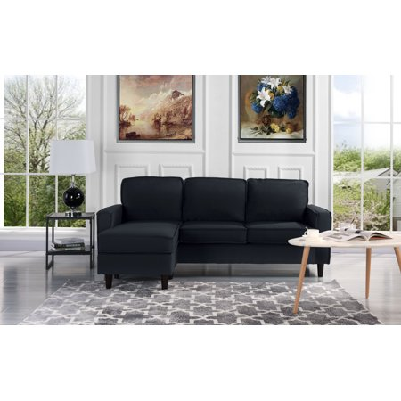 Modern Linen Fabric Sectional Sofa Small Space Configurable Couch