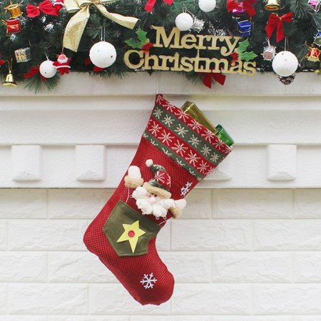 Christmas Stockings Sock Gift Bag Christmas Supply Lovely Hanging Ornament Decor Christmas Decoration