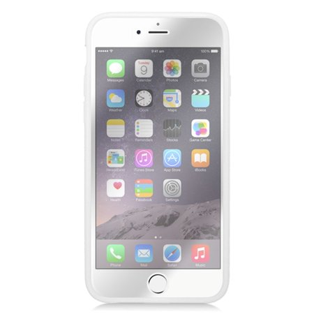 Insten Book Rubber Case For Apple iPhone 6 / 6s - Clear/White - image 1 de 3