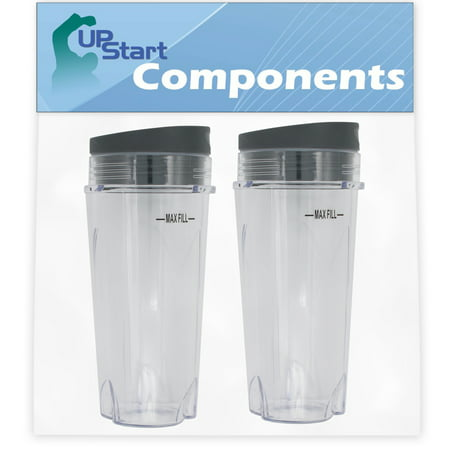 2 Pack UpStart Components Replacement Single Serve 16 oz Cup for Ninja Professional Blender BL660