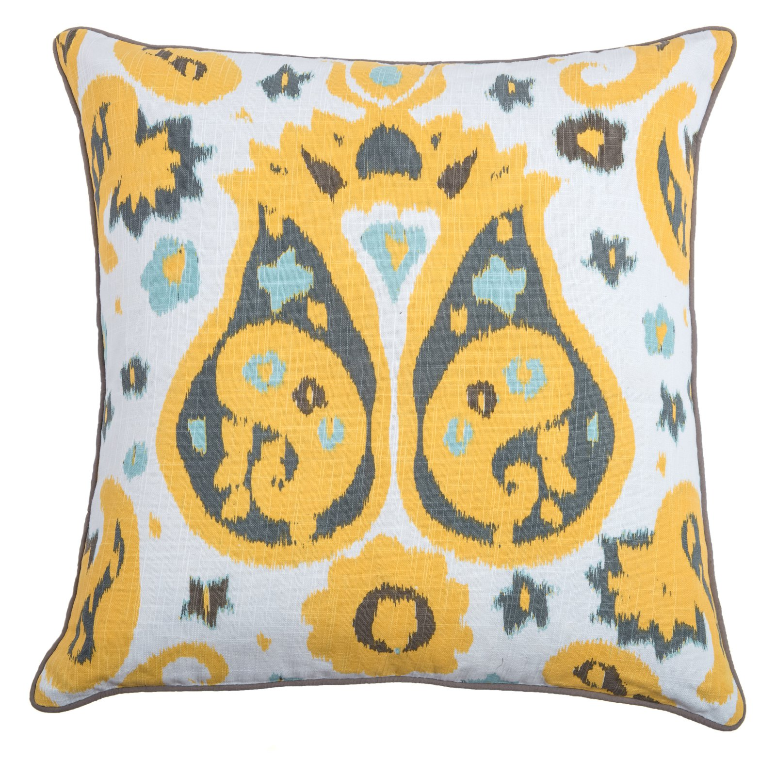"Laura Fair By Rizzy Home Decorative Poly Filled Throw Pillow Abstract 20""X20"" Yellow"