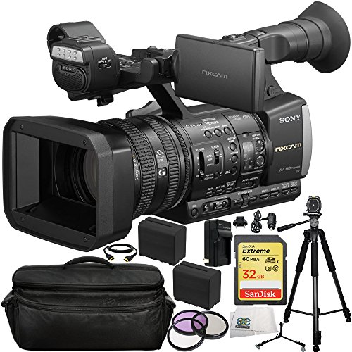 Sony HXR-NX3 1 NXCAM Professional Handheld Camcorder 14PC Accessory Kit. Includes SanDisk 32GB Extreme SDHC... by SSE