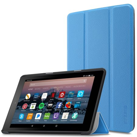 "Infiland Slim Lightweight Cover Case for All-New Amazon Fire 7 (7th Gen, 2017 Release) 7"" Tablet, Blue"