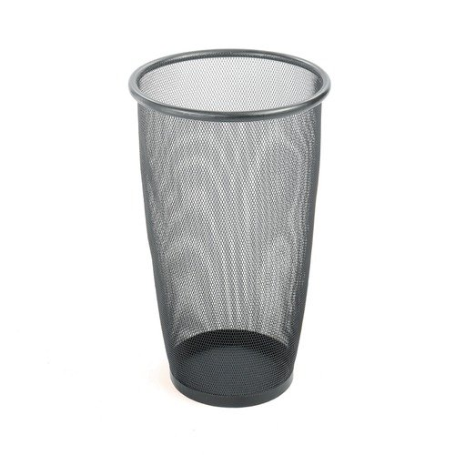 Safco Products Company Onyx Mesh Large Round Wastebasket in Black (Set of 3) (Set of 3)