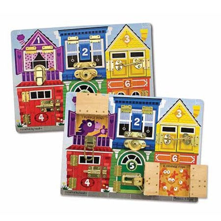 Melissa   Doug Latches Wooden Activity Board