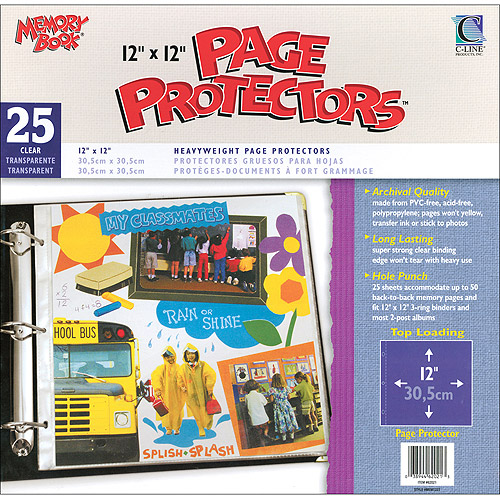 "C-Line Memory Book Top-Load Page Protectors, 12"" x 12"""