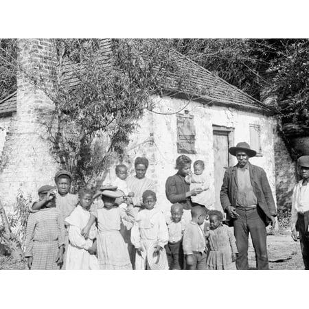 The Whole Black Family at the Hermitage, Savannah, Ga. Print Wall