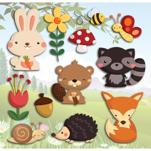 WallPops! Home Decor Line Happy Forest 3D Wall Decal
