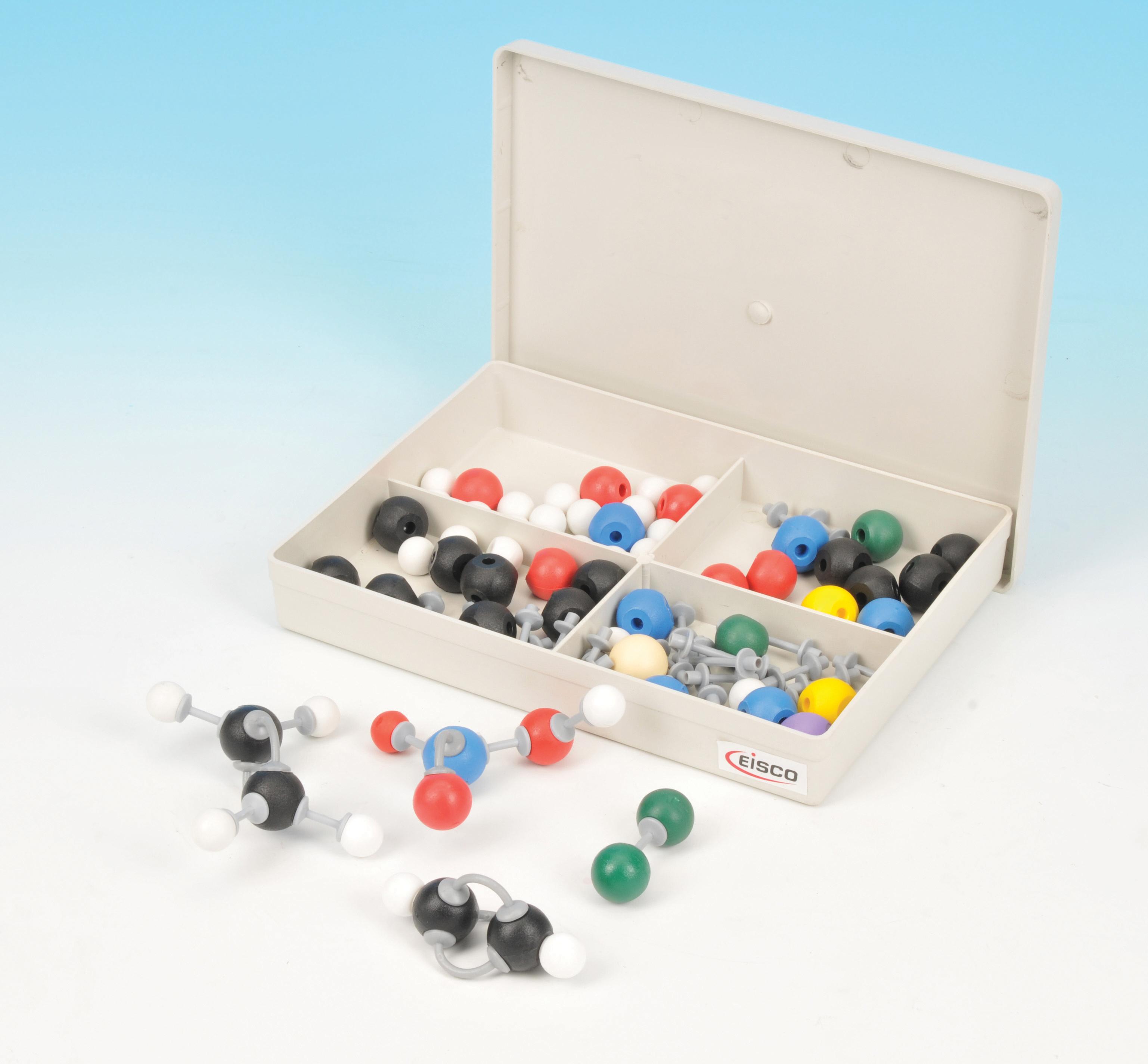Eisco Labs Basic Inorganic and Organic Chemistry Molecular Model Set, 64 Pieces