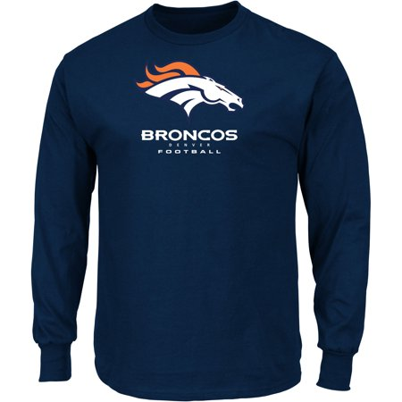 Men's Majestic Navy Denver Broncos Our Team Long Sleeve T-Shirt