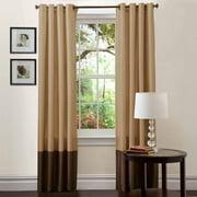"""Prima Taupe/Chocolate Window Curtains, Pair, 54"""" x 108"""""""