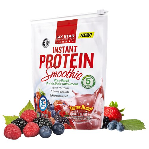 Six Star Pro Nutrition Mixed Berry Instant Protein Smoothie, 0.78 lb