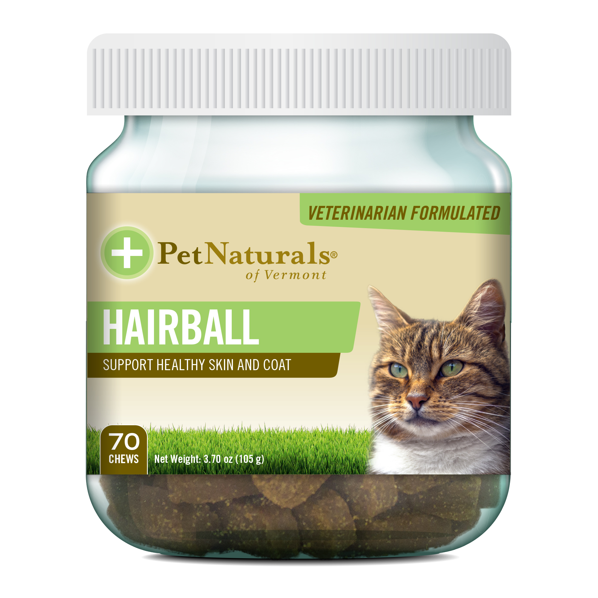 Pet Naturals of Vermont - Hairball, Daily Digestive, Skin and Coat Support for Cats, 70 Bite-Sized Chews