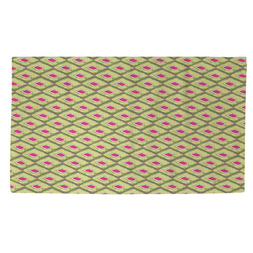 Manual Woodworkers & Weavers Butterfly Diamond Green/Pink Area Rug