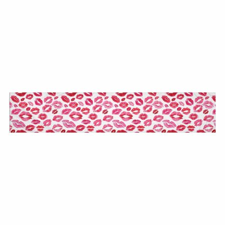 YUSDECOR Girlish Decor Fashion Pink Lips Prints Table Runner Home Decor for Wedding Banquet Decoration 16x72 Inch - image 2 of 2
