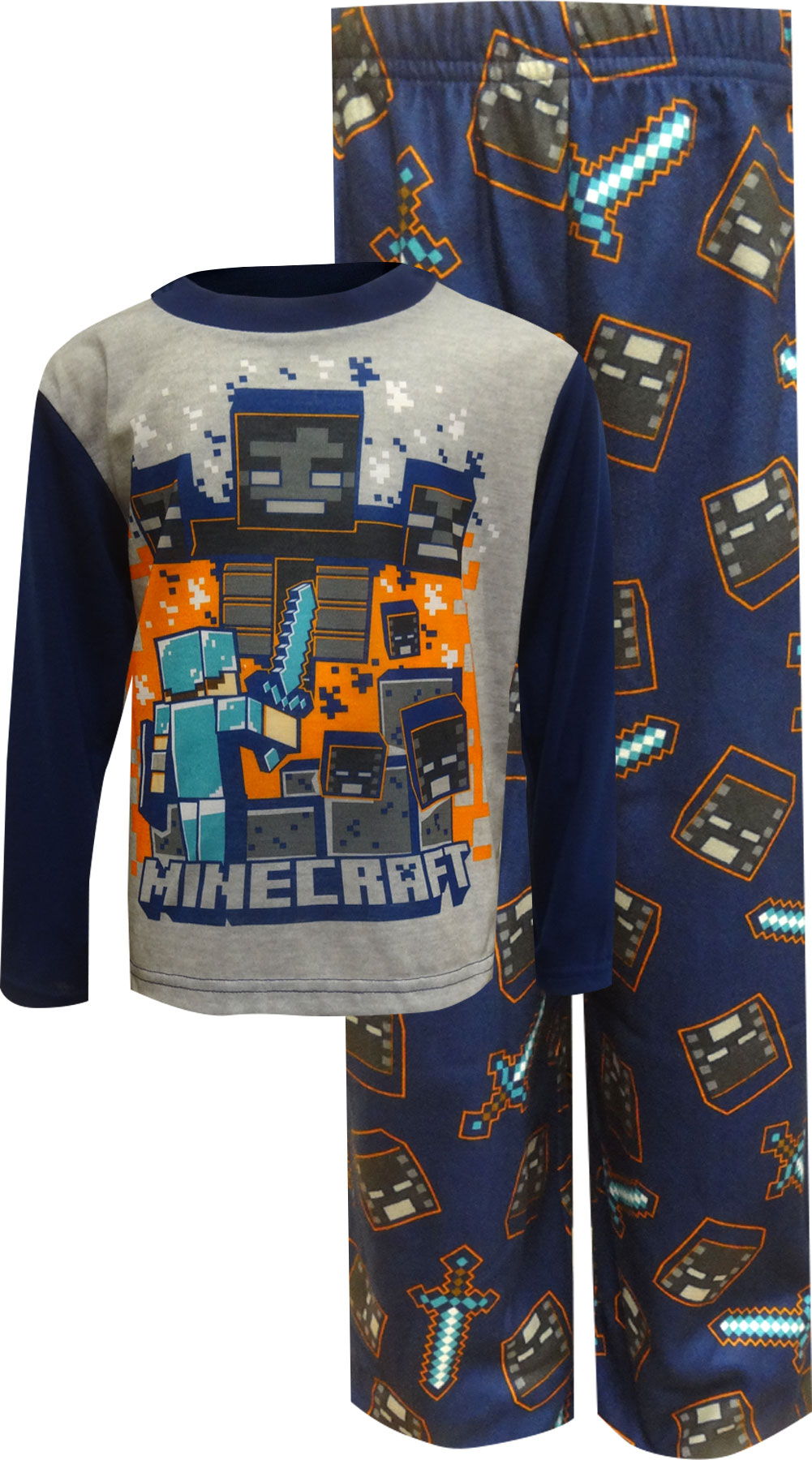 Minecraft Classic Blue Pajamas by AME