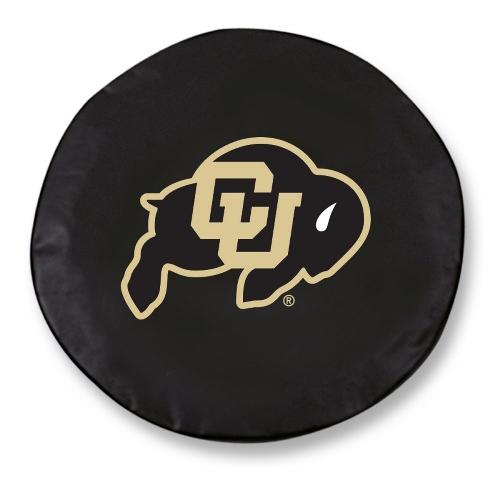 NCAA Tire Cover by Holland Bar Stool - Colorado Buffaloes, Black - 31.25'' x 12''