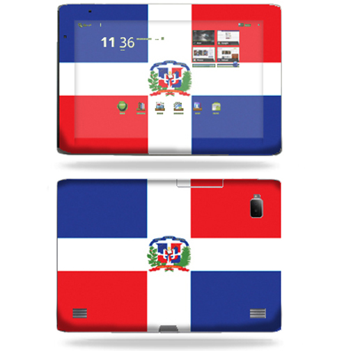 Mightyskins Protective Vinyl Skin Decal Cover for Acer Iconia Tab A500 tablet wrap sticker skins Dominican flag
