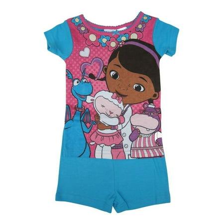 Little Girls Fuchsia Doc McStuffins Short Sleeve Top Shorts Set 2-4T - Doc Mcstuffins Tutu Outfit