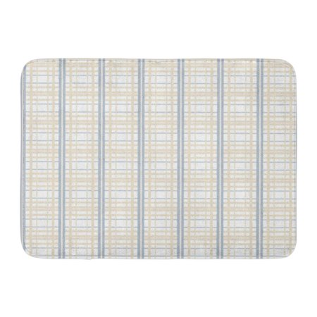 GODPOK Blue Classic Bright Colored Pattern with Straight Parallel Vertical and Horizontal Lines Abstract Design Rug Doormat Bath Mat 23.6x15.7 -