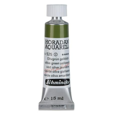 Schmincke Horadam Aquarell Artist Watercolor - Olive Green Yellowish, 15 ml tube