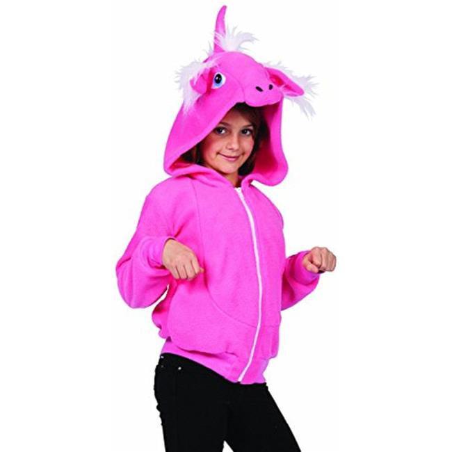 Diva The Pink Unicorn Child Hoodie Costume - Large
