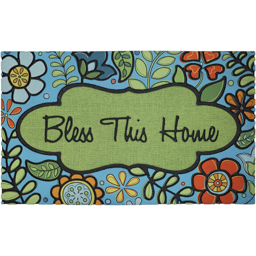 "Mohawk Home Floral Blessing Crum Rubber Mat, Multicolor, 1'6"" x 2'6"""