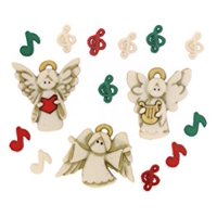 Jesse James Dress It Up Choir of Angels Embellishments, 15-Pack