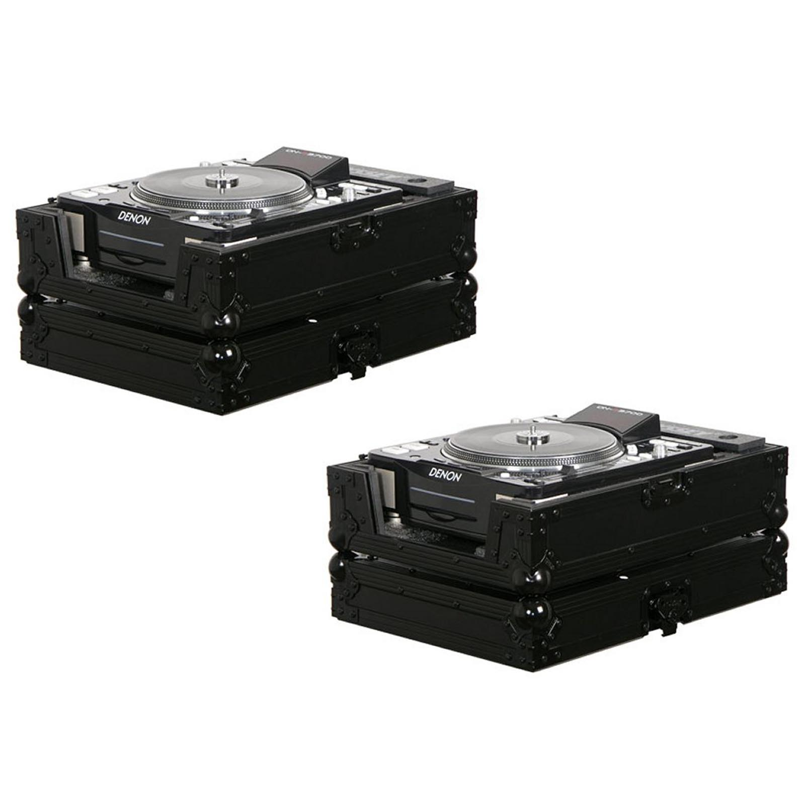 2 Odyssey FZCDJBL Black Label Pro DJ Cases Pioneer CDJ800 CDJ1000 CDJ2000 etc. by Odyssey Case