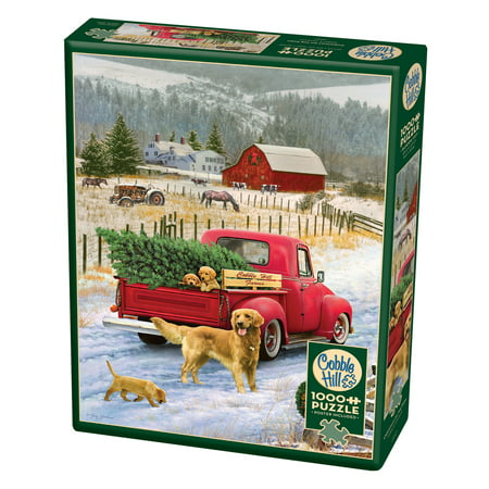 Cobble Hill: Christmas on the Farm 1000 Piece Jigsaw Puzzle Christmas on the Farm