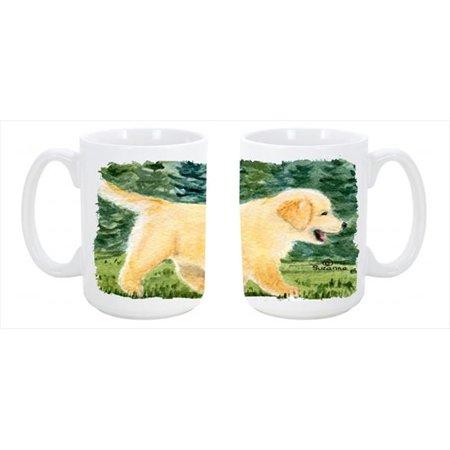 Golden Retriever Dishwasher Safe Microwavable Ceramic Coffee Mug 15 oz. - image 1 de 1