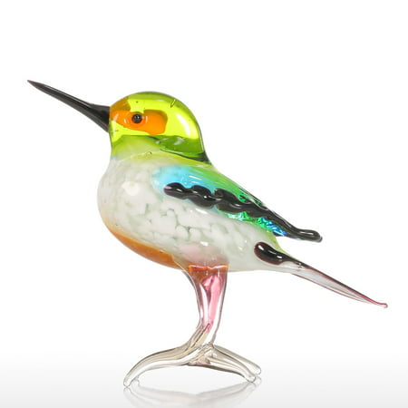 Tooarts Tiny Bird Gift Glass Ornament Animal Figurine Handblown Home Decor Multicolor - Tiny Baby Figurines