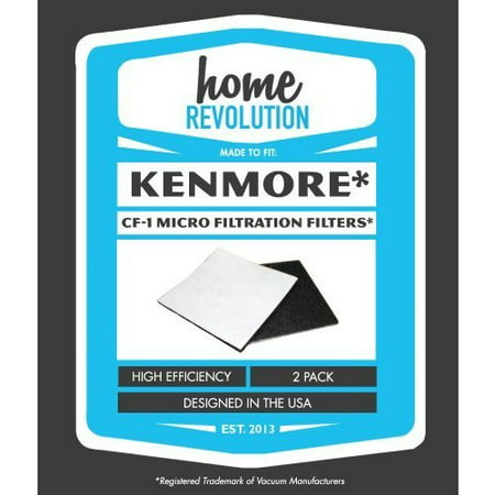 Kenmore Brands - Kenmore CF-1 Home Revolution Brand Progressive and Whispertone Foam Replacement Filters 2PK; Compare to Sears Kenmore Vacuum Part # 86883, CF-1 (CF1), 20-86883 (2086883), 4370616, 8175084, 20-40321, 2040321, 40321, Ultracare Kenmore 610461 filters, Panasonic MCV9568, AC37KAKTZ000
