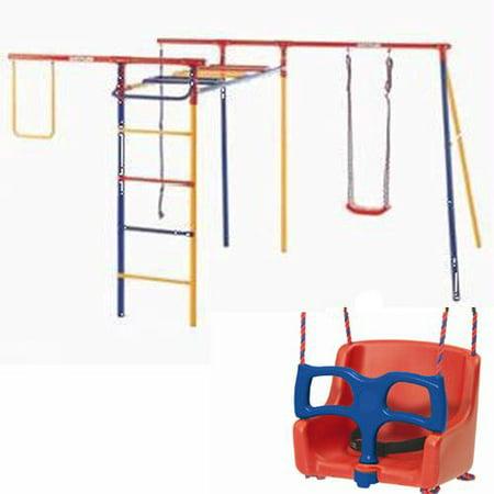 Kettler Kit 8398 600b Trimstation Swing Set With Baby