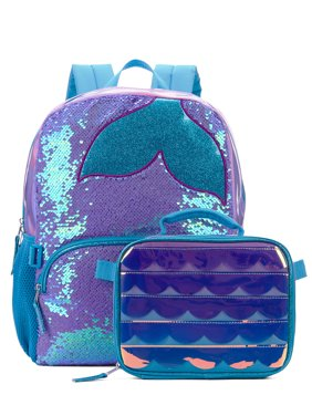 Wonder Nation Mermaid Dreams Backpack With Lunch Bag