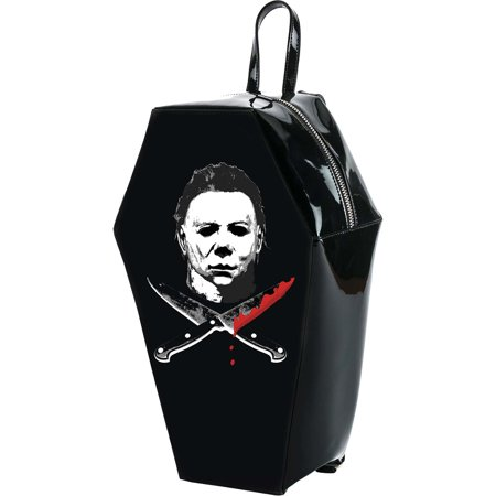 Halloween Mike Myers Coffin Backpack Backpack Black