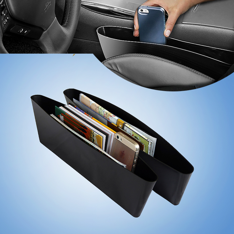 2 Pc Hot Products Automotive Car Trash Garbage Bag Seat Slit Pocket Car Storage Box Car portable Organizer Box