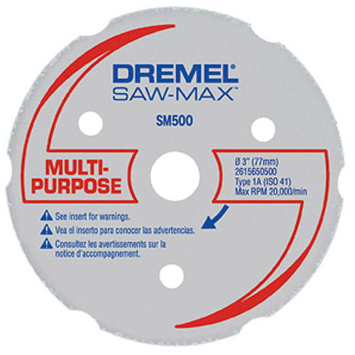 "Dremel SM500 3"" Multi-Purpose Carbide Wheel"