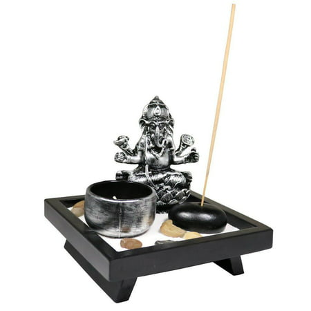 Elephant Tabletop Incense Burner Gifts Decor Zen Garden Elephant Statue Candle Holder