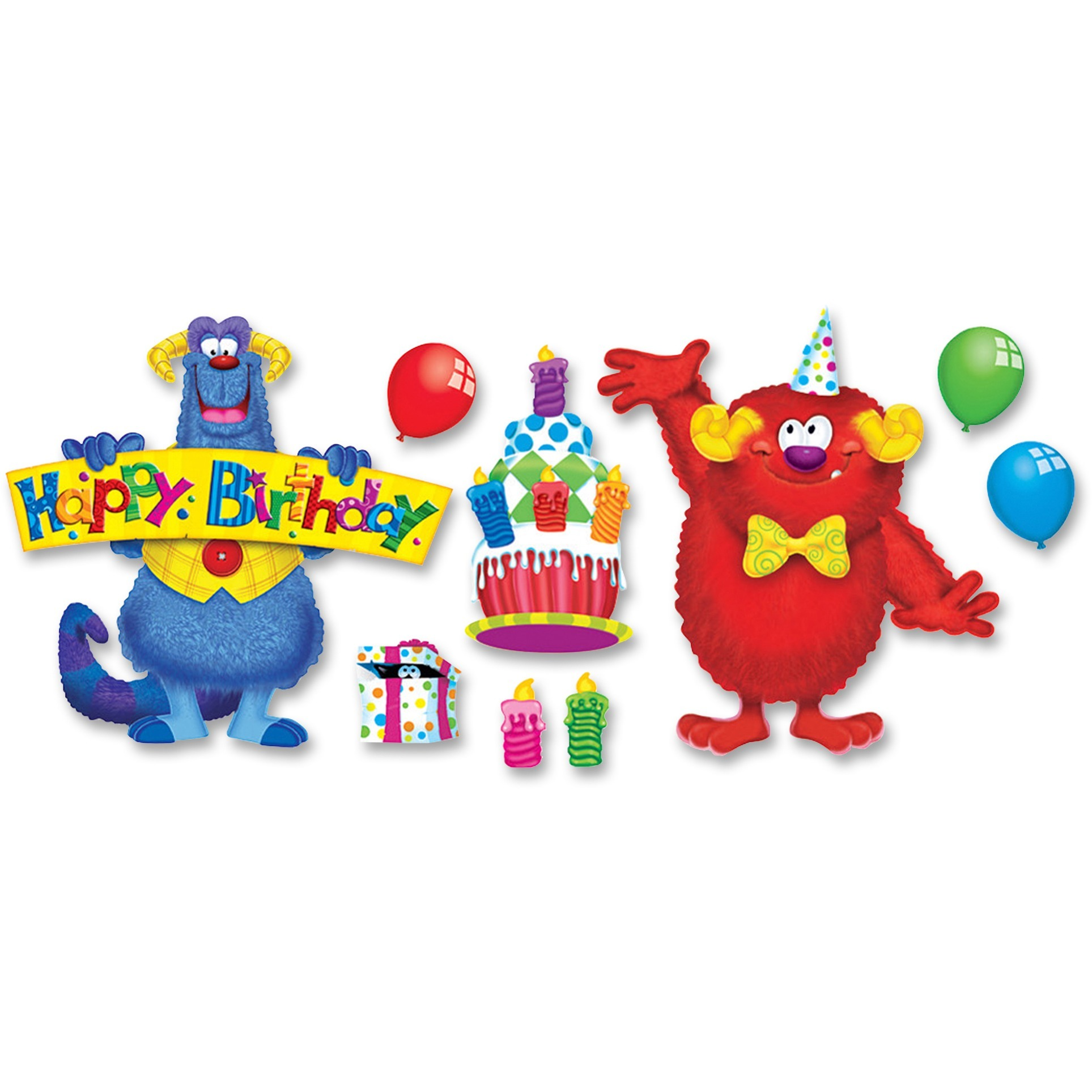 Trend, TEPT8311, Furry Friends Birthday Fun Bulletin Board Set, 1 / Set, Assorted