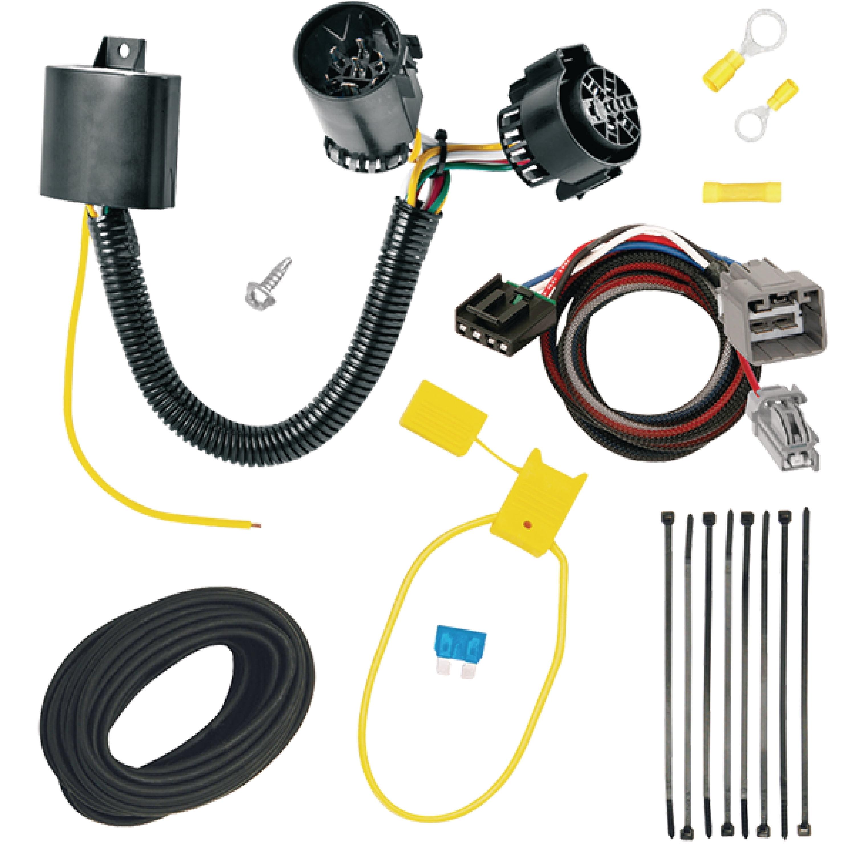 tekonsha 30234-p 2-plug rv trailer brake control wiring adapter with  converter & 7-way adapter kit for ram - walmart com
