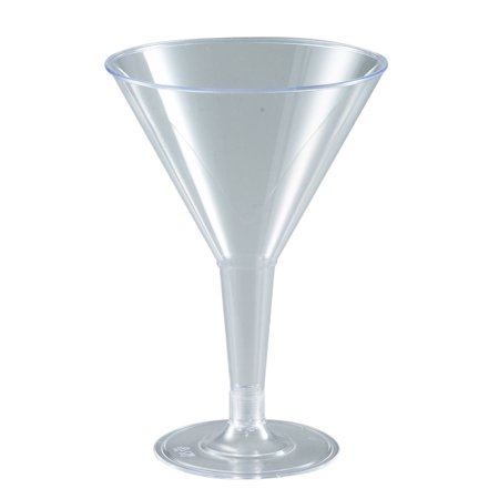 Plastic Martini Glass (2 Oz. Plastic Martini Glass/Case of)