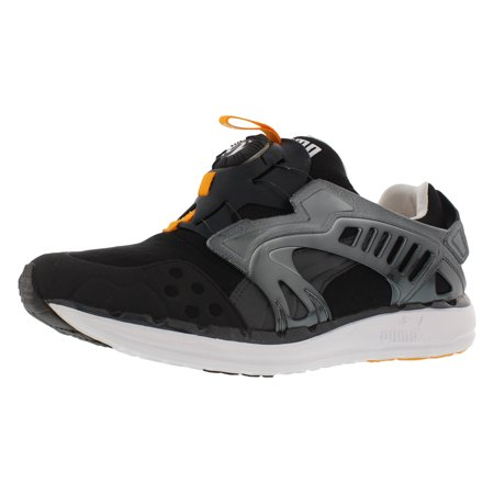 puma men's future disc lite tech'd out athletic sneaker, black/zinnia, 11 m us (Back To The Future Shoes Replica)