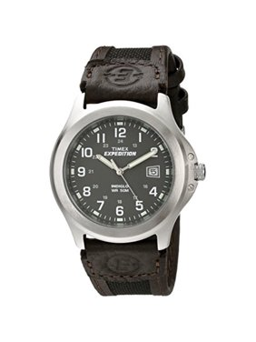 Men's Expedition Metal Field Watch, Brown Nylon/Leather Strap