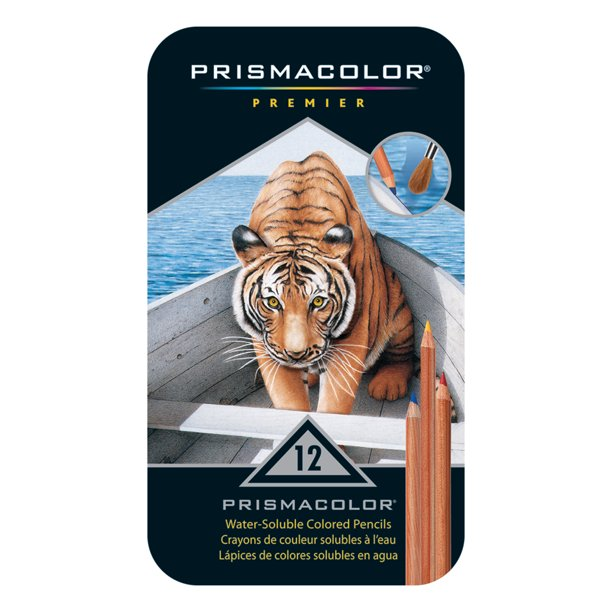 Prismacolor Watercolor Pencil Set, 12-Colors