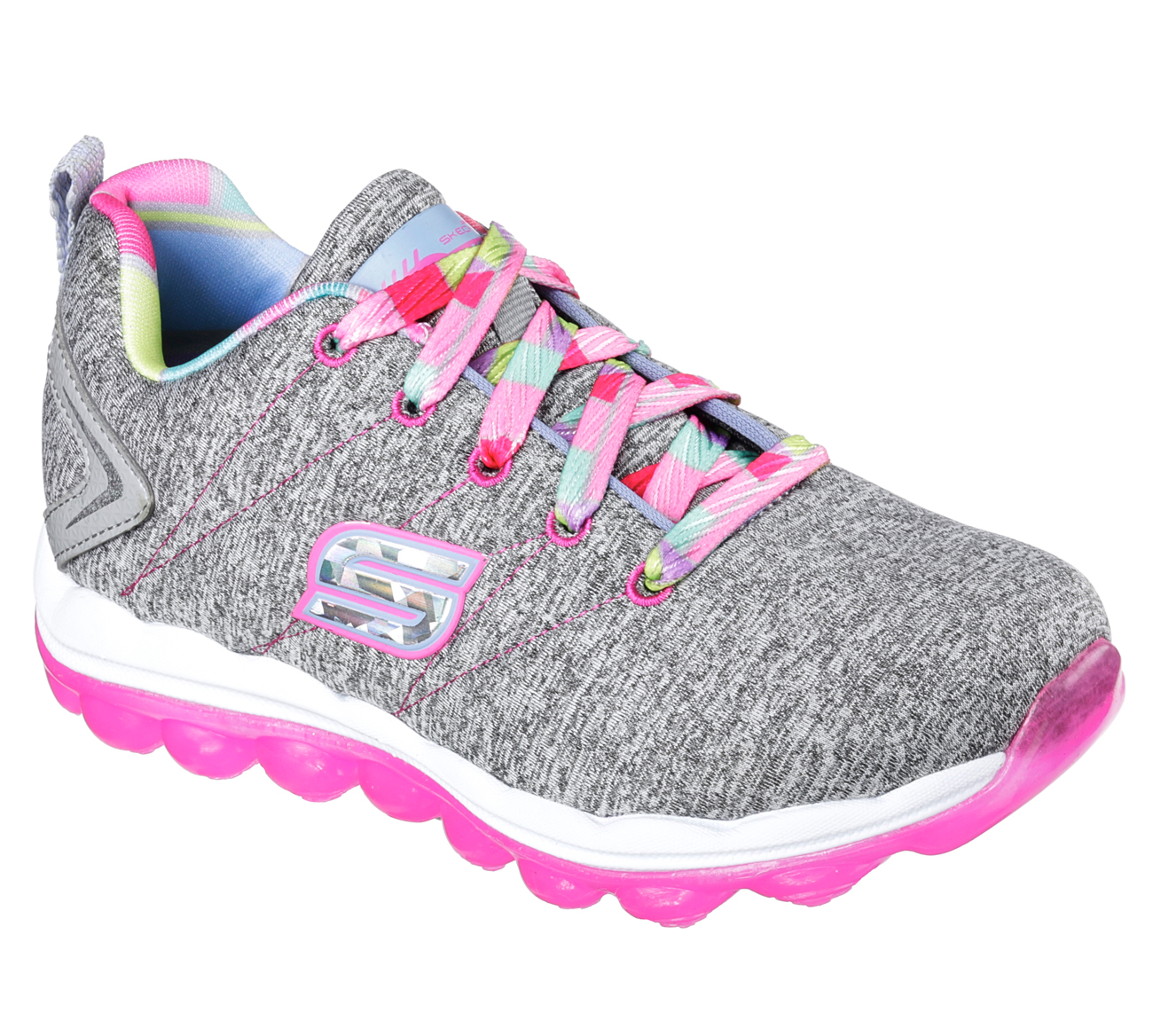 Skechers 80124LGYHP Girl's SKECH-AIR - BOUNCE LIFE  Training Shoes
