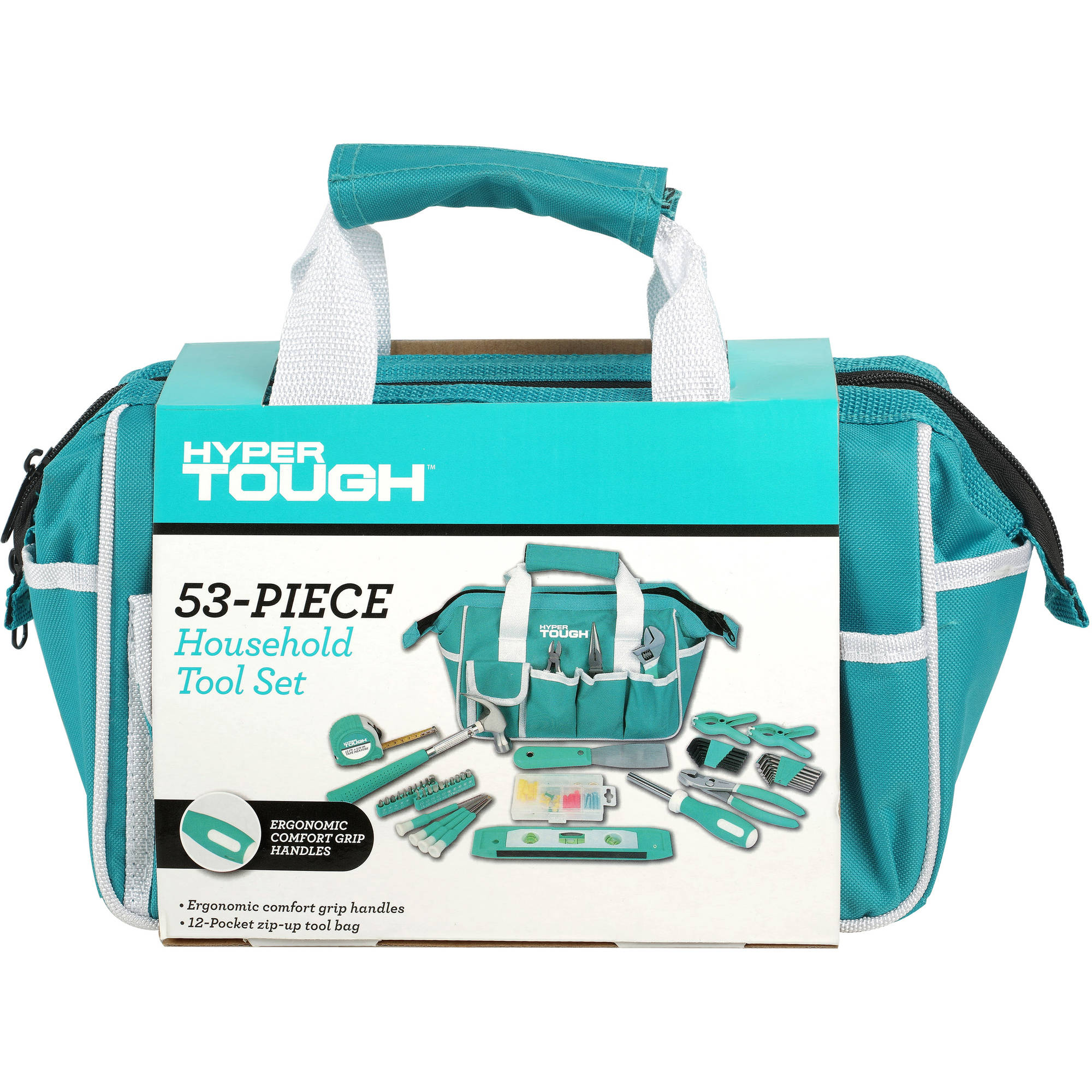 Hyper Tough 53-Piece Teal Toolset