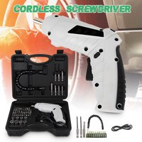 Mini Cordless Electric Screwdriver 1300mAh 250r/min USB Drill Driver with LED Work Light Wood Screwdriver Kit